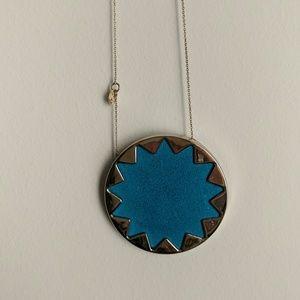House of Harlow 1960 Large Sunburst Pendant: Blue